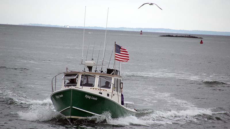 Flying Connie American Flag in Sound