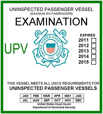 Uninspected Passenger Vessel Examination Flying Connie